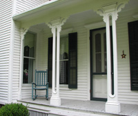 Porch of McAuliffe-Fisk House